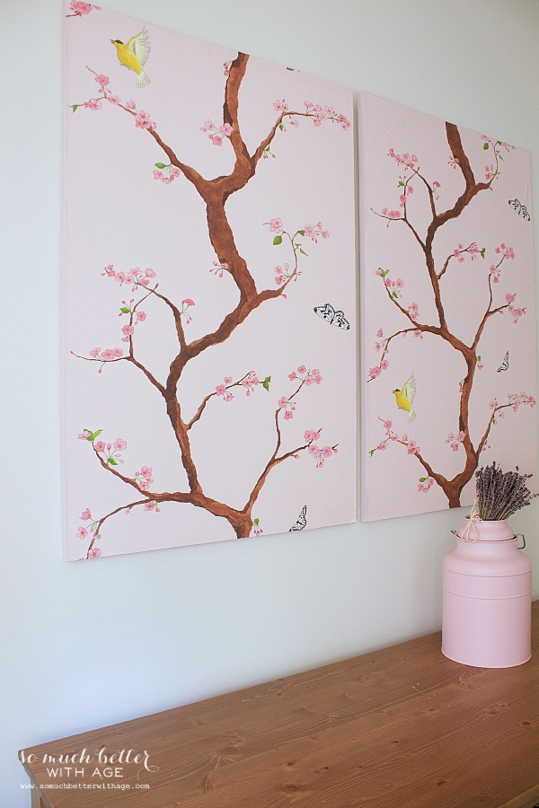 Wallpaper and canvas wall art | somuchbetterwithage.com
