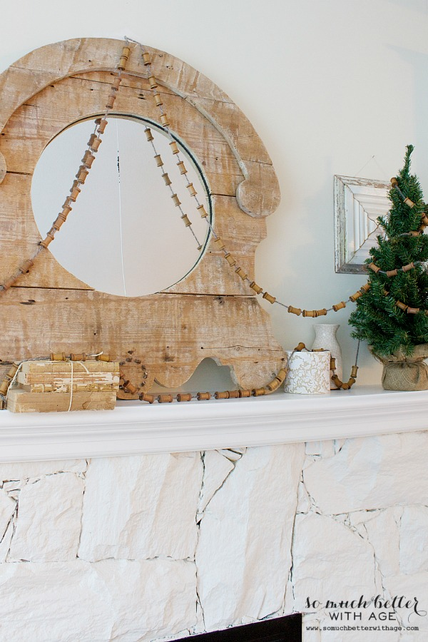 Spool and wool garland | somuchbetterwithage.com
