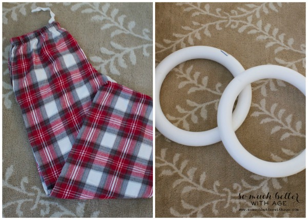 Plaid PJs to wreath / pjs and wreath material - So Much Better With Age