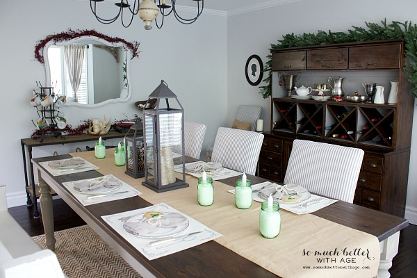 12 days of Christmas tablescapes - So Much Better With Age