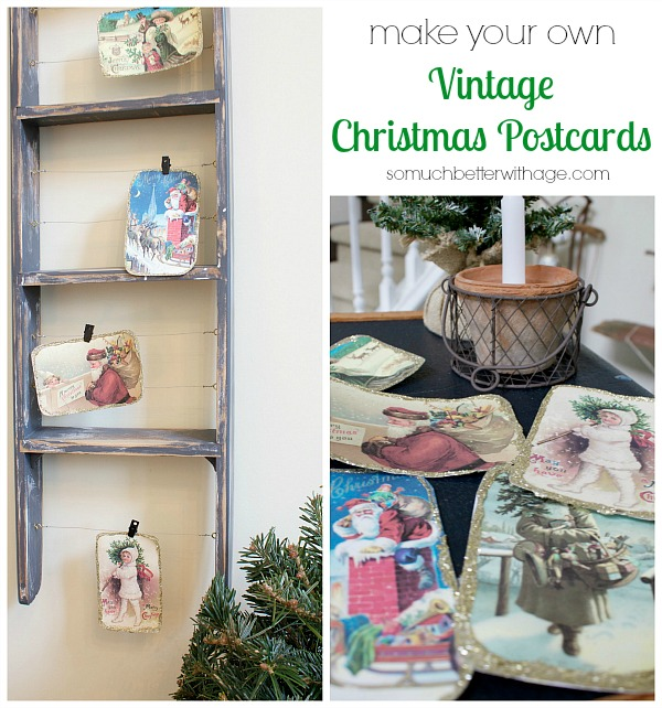 Vintage Decor: DIY Vintage Christmas Postcards