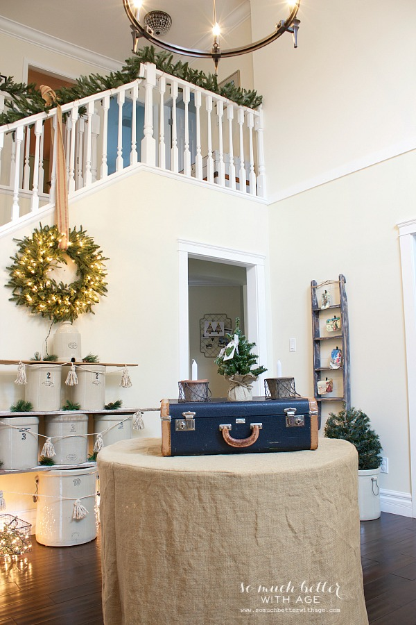 Christmas foyer by somuchbetterwithage.com