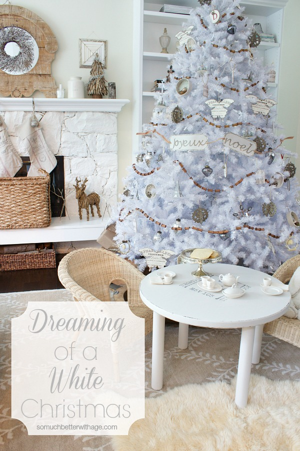 Dreaming of a White Christmas Balsam Hill Christmas tree / beautiful white Christmas tree - So Much Better With Age