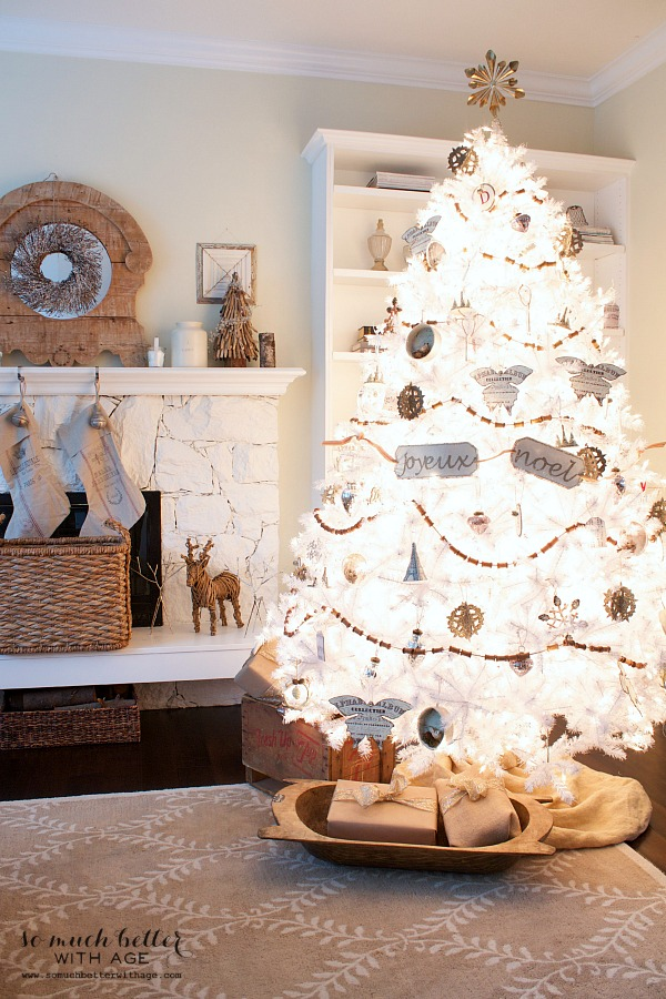 Dreaming of a white Christmas Balsam Hill Christmas tree / French details on tree - So Much Better With Age