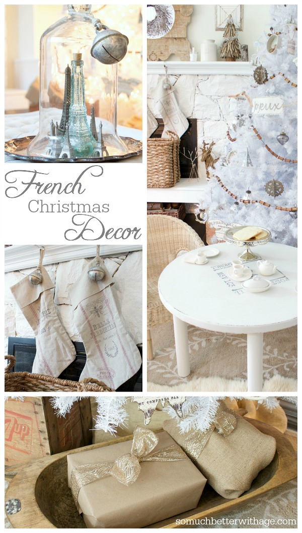 French Christmas Decor | somuchbetterwithage.com