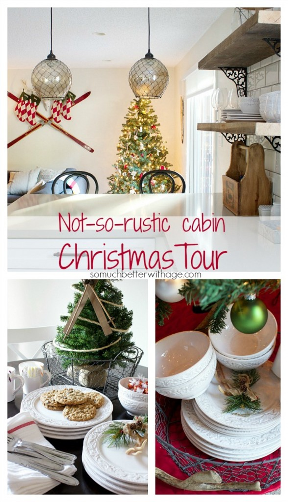 Not-so-rustic cabin Christmas tour by somuchbetterwithage.com