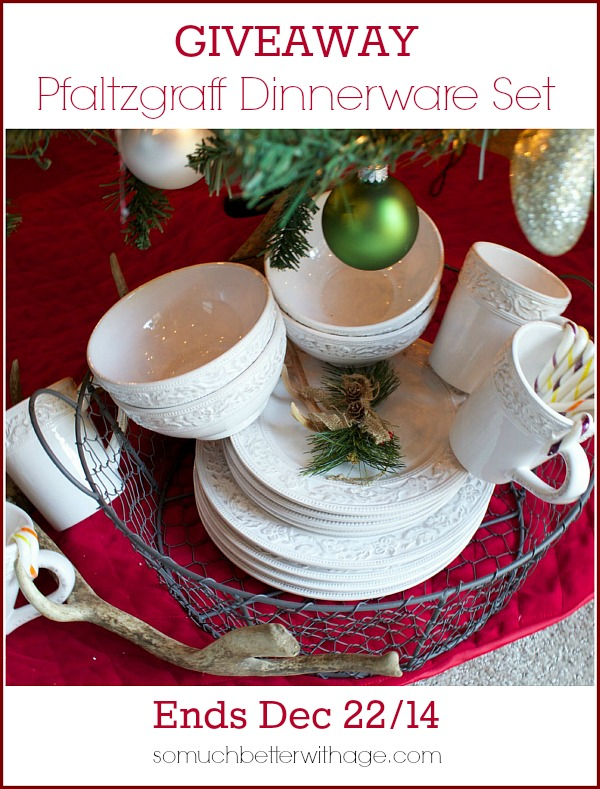 Pfaltzgraff dinnerware set giveaway by somuchbetterwithage.com