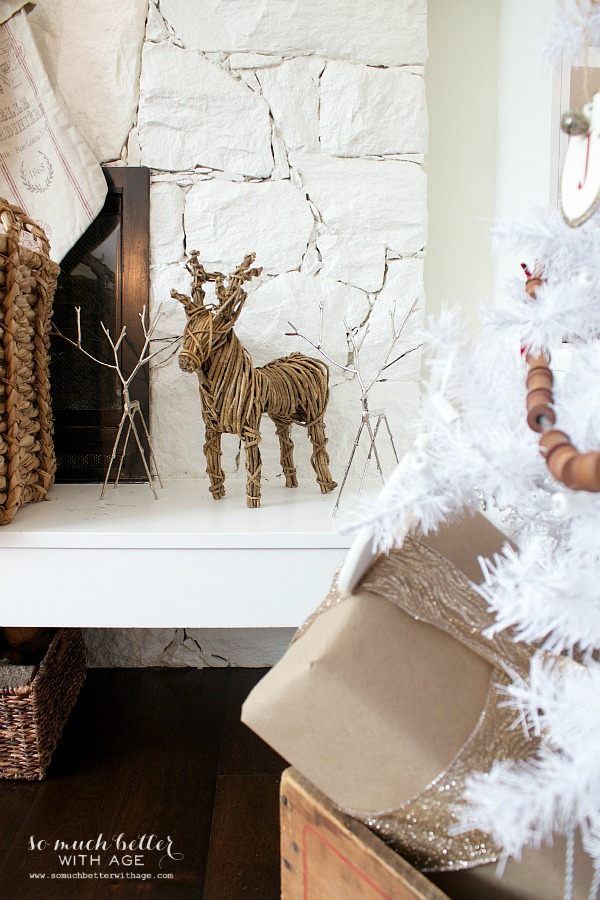 French Christmas Decor / twig reindeer - So Much Better With Age