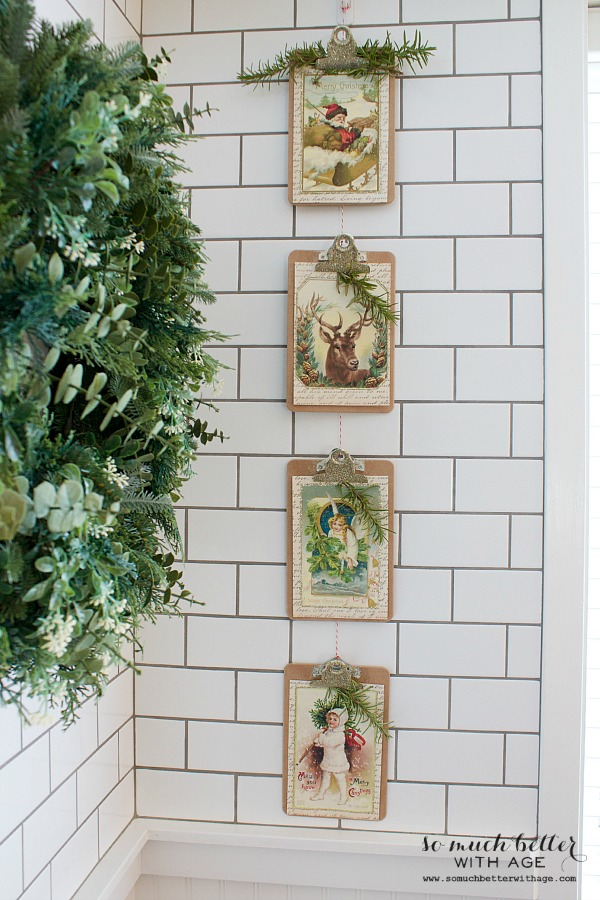 Vintage Vertical Christmas Garland - So Much Better With Age