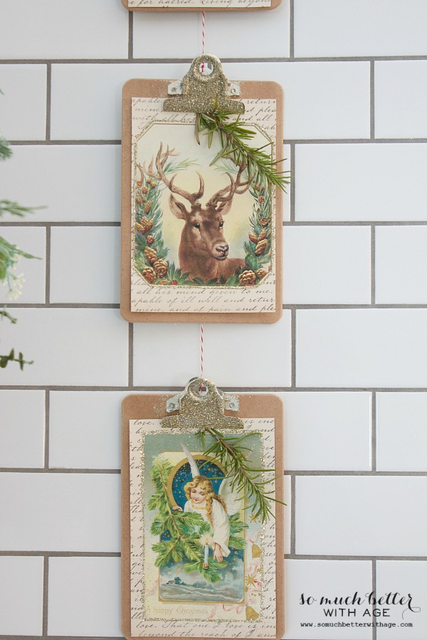Vintage Vertical Christmas Garland / twine to string them together - So Much Better With Age