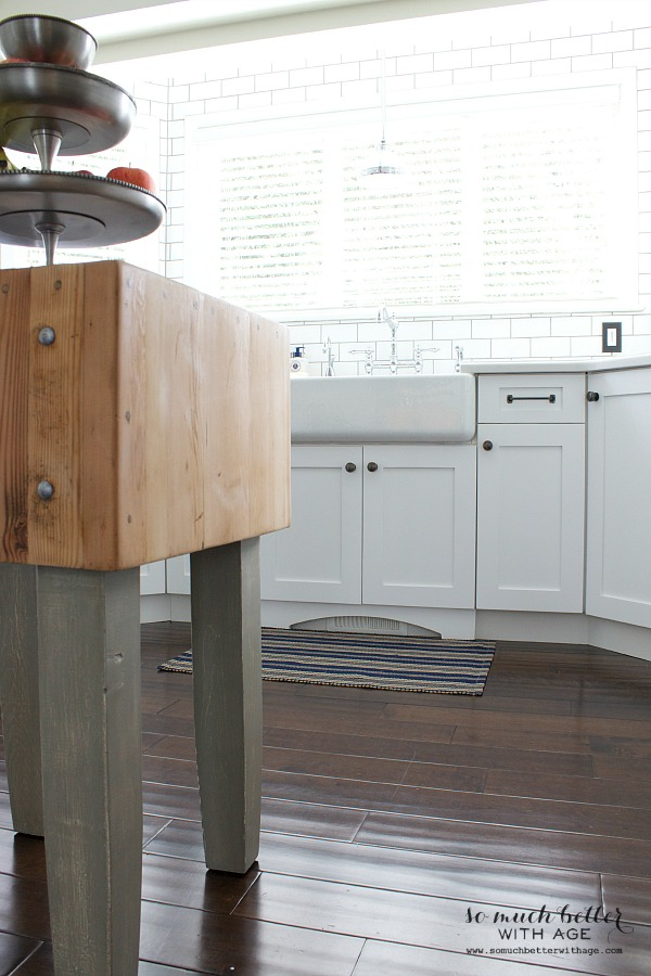 Industrial Vintage French Kitchen / butcher block island - So Much Better With Age