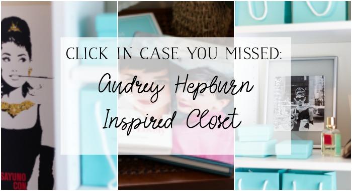 Audrey Hepburn Inspired Closet graphic.