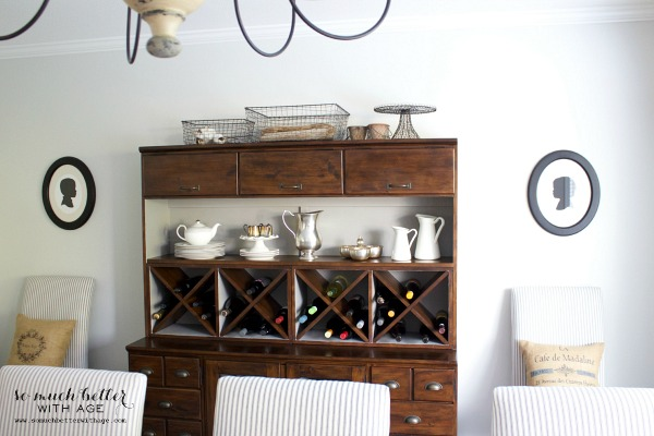 dining room cabinet refresh by somuchbetterwithage.com