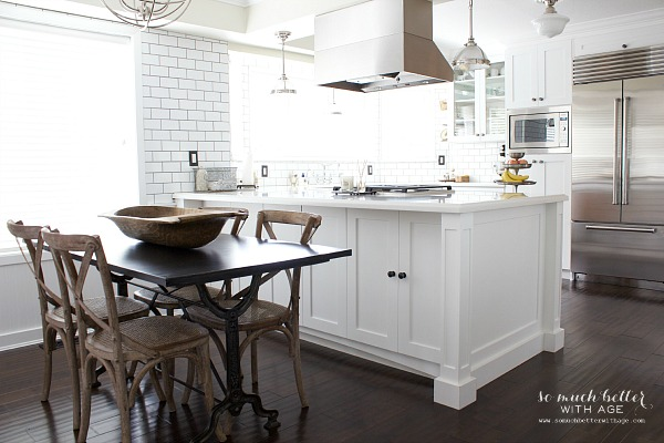 Industrial Vintage French kitchen | somuchbetterwithage.com