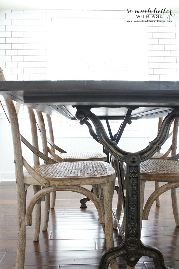 Industrial Vintage French Kitchen / Restoration Hardware chairs & table - So Much Better With Age
