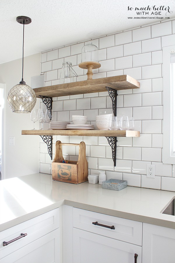 Kitchen Cabinet Shelves Wood