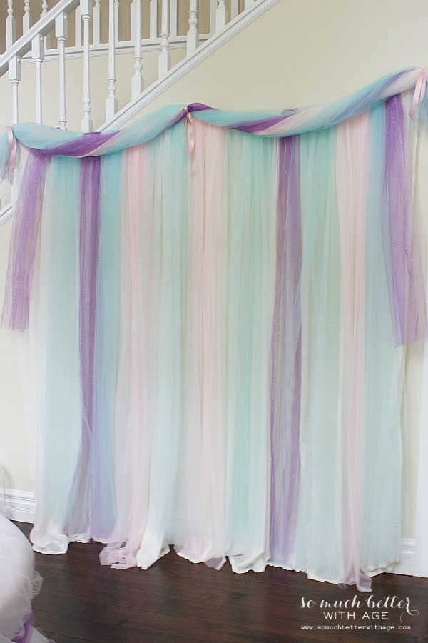 Let us eat cake princess party / party curtains - So Much Better With Age