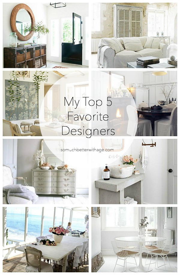 My Top 5 Favorite Designers