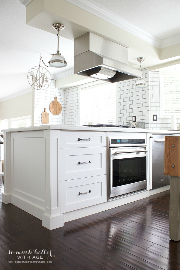 Industrial Vintage French Kitchen / new white kitchen - So Much Better With Age