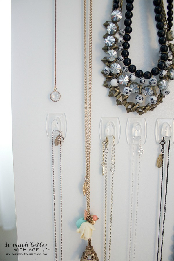 Easy necklace organization / beaded and Paris necklace - So Much Better With Age