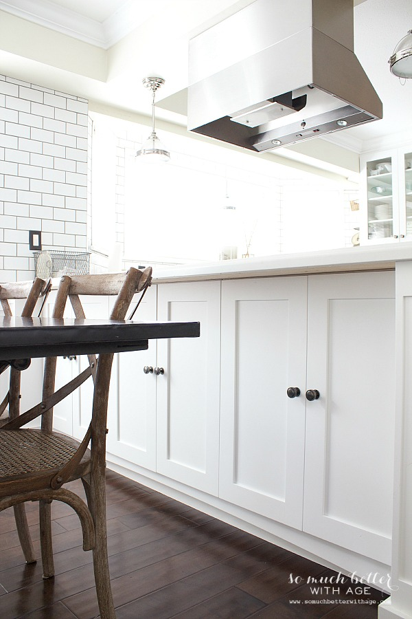 Industrial Vintage French Kitchen / white kitchen cupboards - So Much Better With Age