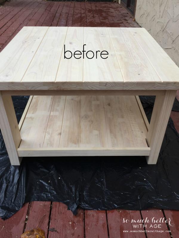 sanding / Ikea Rekarne table makeover | somuchbetterwithage.com