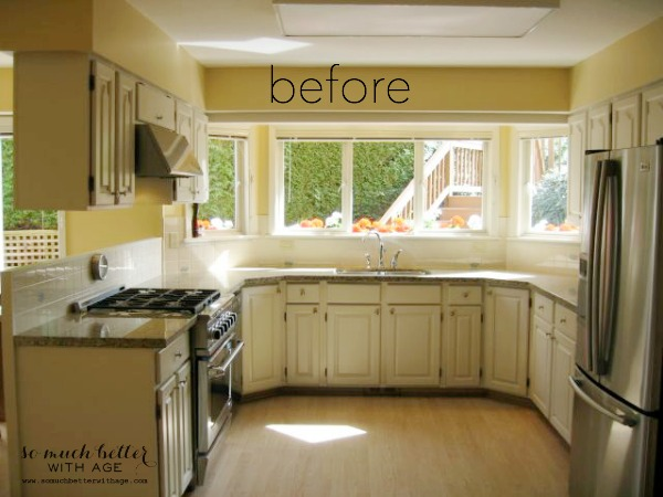 Industrial Vintage French Kitchen / before picture of kitchen - So Much Better With Age