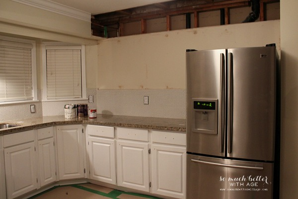 during kitchen renos | somuchbetterwithage.com