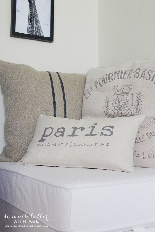 Paris artwork / French pillows and artwork - So Much Better With Age