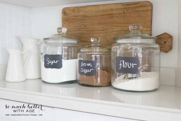 Butler pantry and kitchen office updates / Glass canisters - So Much Better With Age