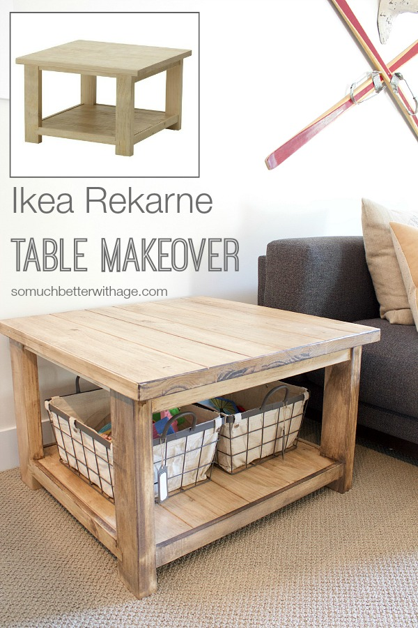 Ikea rekarne table makeover so much better with age for Ikea table 9 99