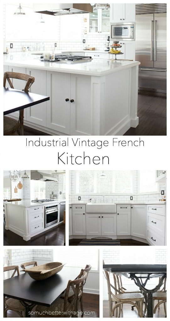Industrial Vintage French Kitchen / white kitchen pictures - So Much Better With Age