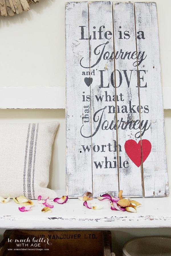 Valentine's Day wooden sign