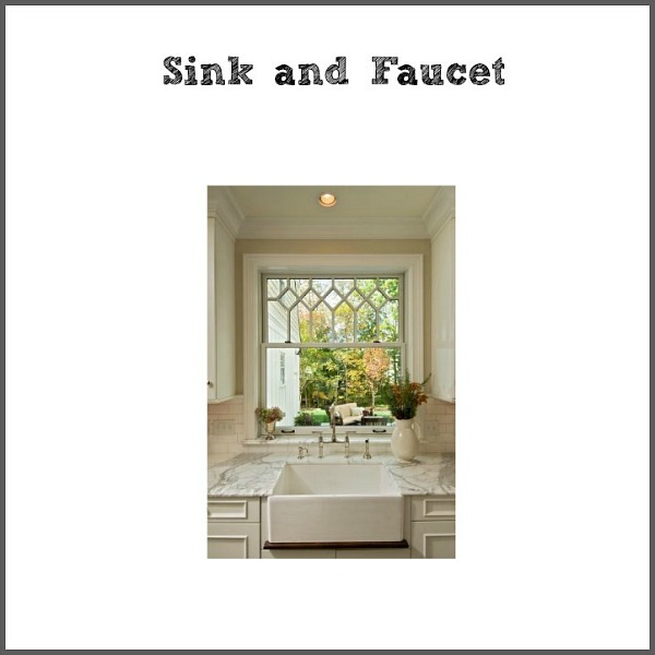 Industrial Vintage French Kitchen / sink and faucet design process - So Much Better With Age