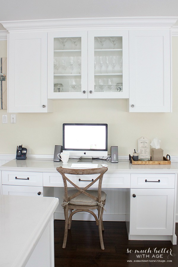 Butler pantry and kitchen office updates / glass cabinets - So Much Better With Age