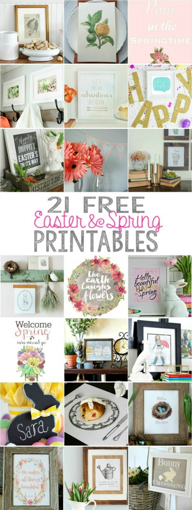 21 free Easter and Spring Printables - So Much Better With Age