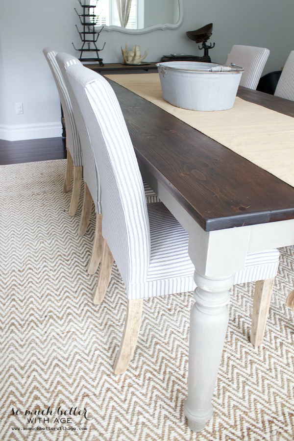 Get my dining room look / West Elm rug - So Much Better With Age