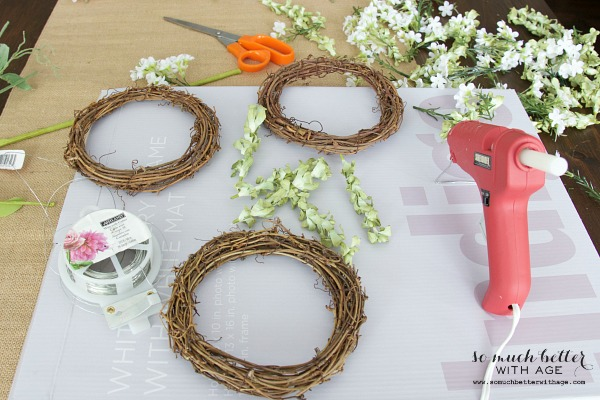 Make your own and decorate with springtime floral crowns