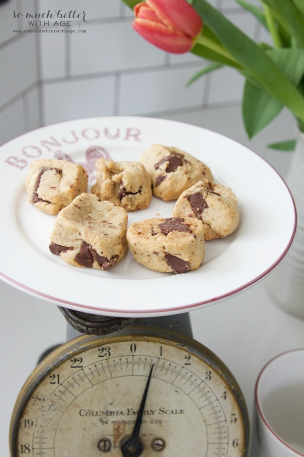 New French Additions / French scale with cookies on French plate - So Much Better With Age