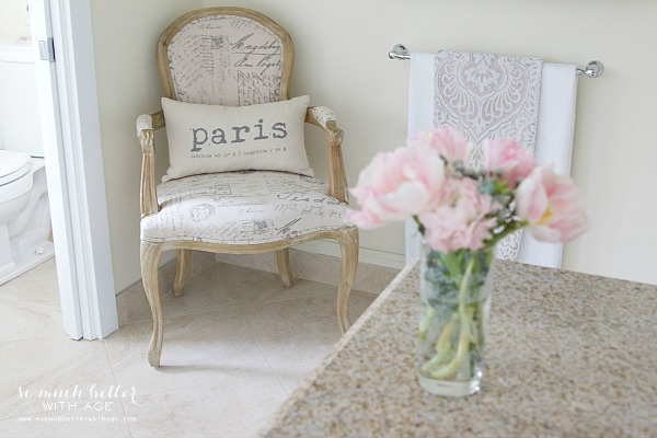 New French Additions / Paris pillow & French chair - So Much Better With Age