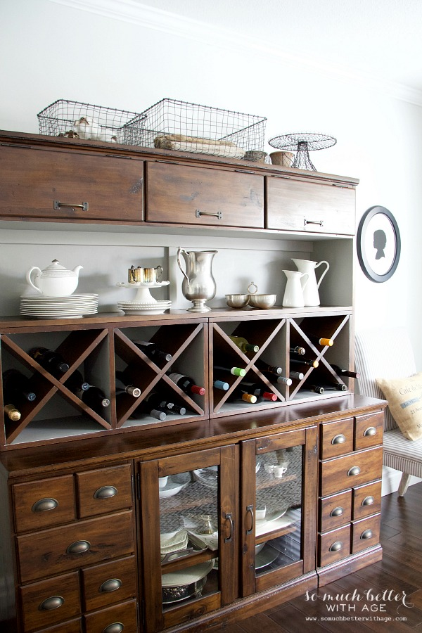 Get my dining room look / cabinet from Pottery Barn - So Much Better With Age