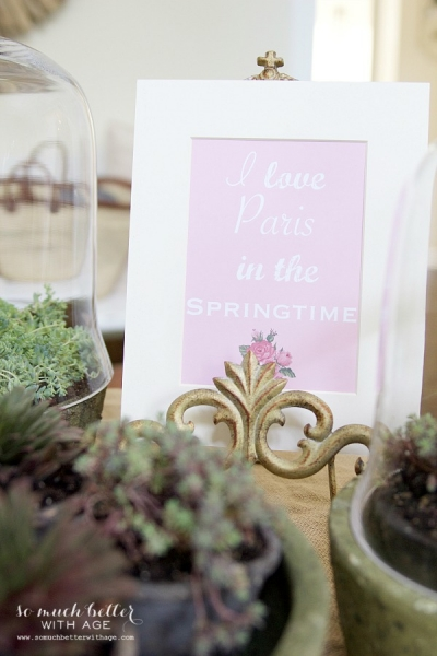 Spring Flowers in Terrariums + Springtime Printable