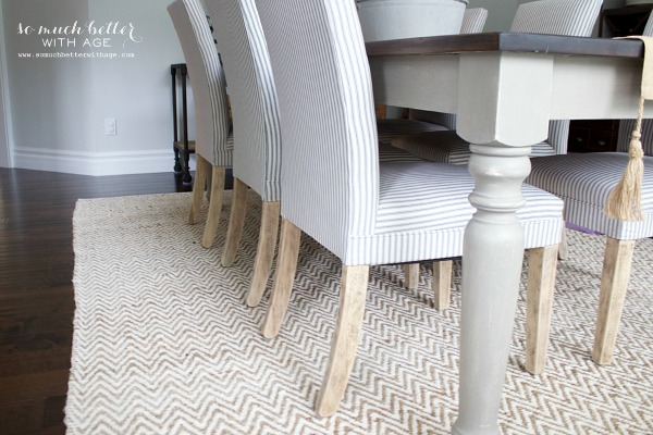 Get my dining room look / Farmhouse table - So Much Better With Age