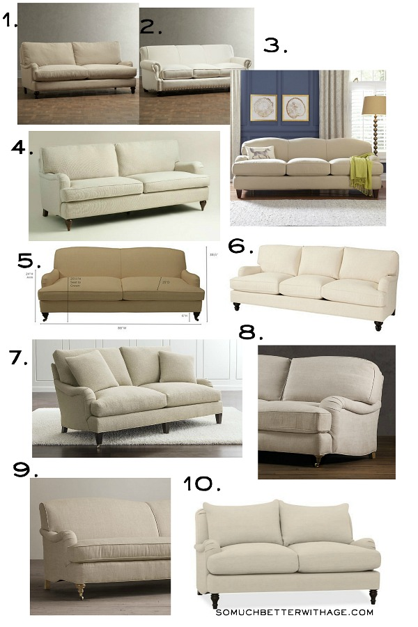 Get My Living Room Look/English roll arm sofa - So Much Better With Age