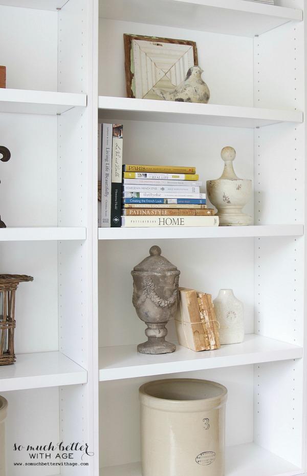 Vintage bookshelves