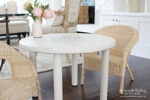Curbside find  kid's table makeover / table in dining room - So Much Better With Age