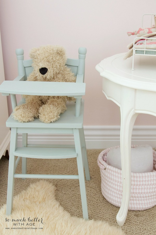 Little doll highchair & Funny Story / cute stuffed animal in high chair - So Much Better With Age