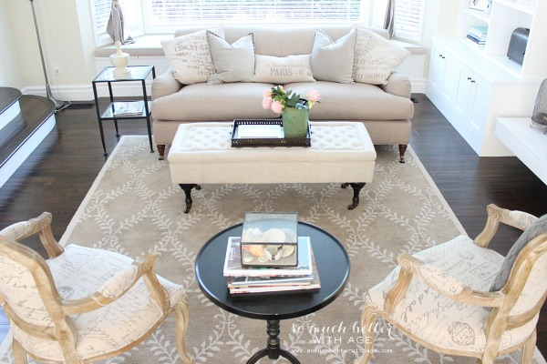 Get My Living Room Look/French neutral living room - So Much Better With Age