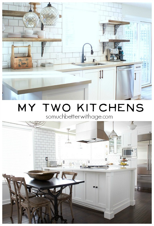 My Two Kitchens | somuchbetterwithage.com
