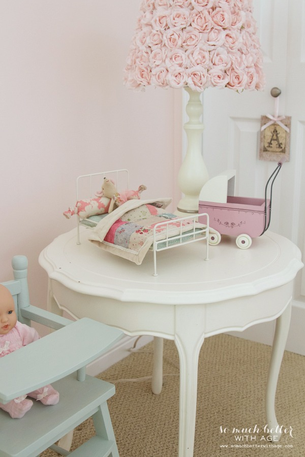 Little Doll Highchair & A funny Story / rose petal table light - So Much Better With Age